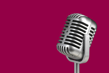 Retro microphone.