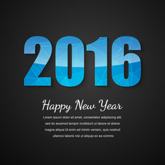 Happy new year 2016 design, Vector