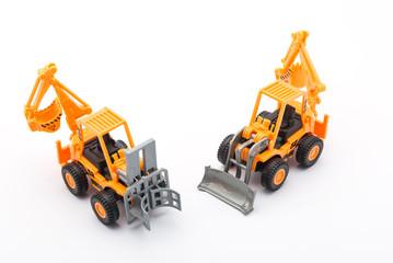 Orange tractor toy