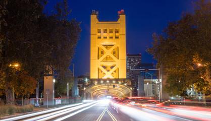 Tower Bridge Sacramento River Capital City California Downtown S