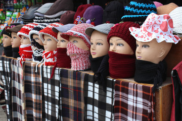 Winter is approaching rapidly. So everyone is in search for winter garments. Hence the mannequins are also exhibiting and preparing themselves to enjoy the cold rush.