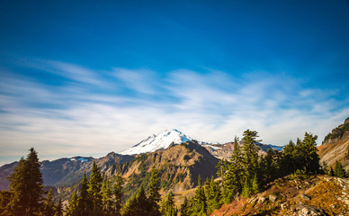 scene of mt baker from Artist point hiking area,scenic view in Mt Baker,Washington,USA.