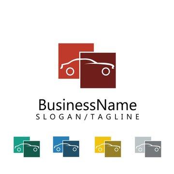 Car vector logo icon
