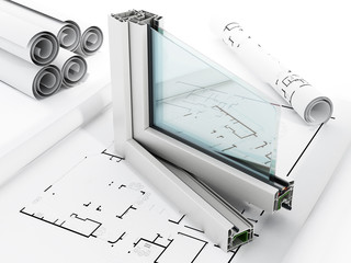 Fototapeta PVC window detail obraz
