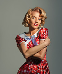 posing retro pinup woman