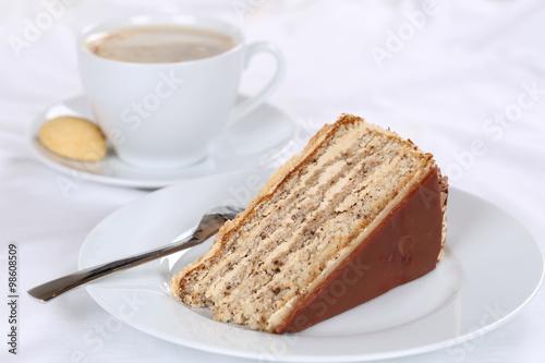 Kaffee Und Nuss Kuchen Torte Nachtisch Dessert Stock Photo And