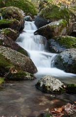 Beautiful waterfall and big rocks