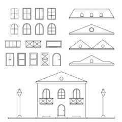 Vector Lineart House Generator
