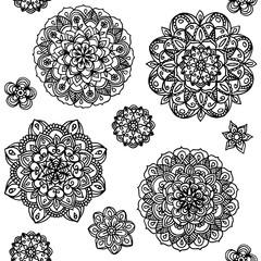 Hand drawn mandala circles