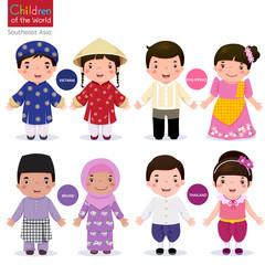 Children of the world;  Vietnam, Philippines, Brunei, and Thaila