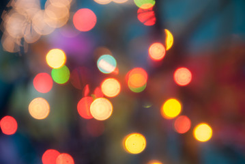 Bokeh abstract rainbow spot colorful background from decorative