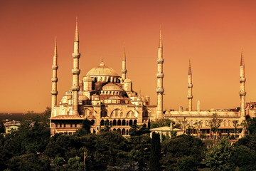 The Blue Mosque (Sultanahmet Camii) in Istanbul