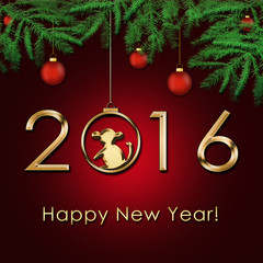 New Year 2016 - Year of the Monkey