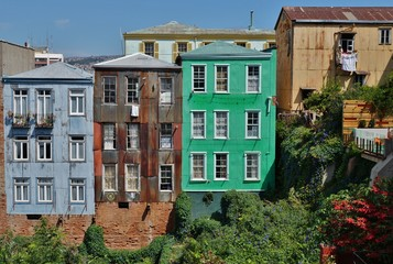 Colorful buildings in Valparaiso, Chile