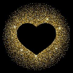 Confetti heart frame round