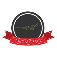 flat icon dinosaur megalosaur