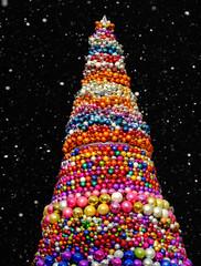 bunter Weihnachsbaum