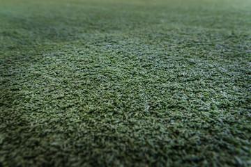 Wall Mural - Closeup of the green artificial grass texture