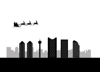 santa flying calgary