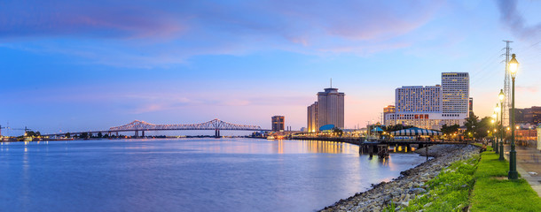 Downtown New Orleans, Louisiana and the Missisippi River