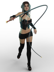 3D render of Mistress on white background.
