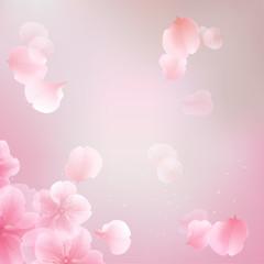 elegant soft pink color flowers vector