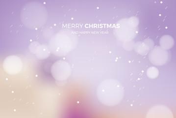 merry christmas blur card