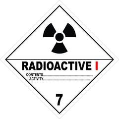 Radioactive Substance Warning Sign