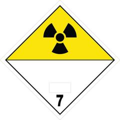 Radioactive Material Warning Label