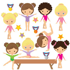 Gymnastics vector illustration