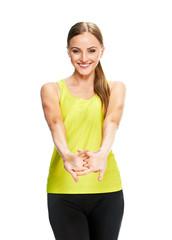 woman fitness portrait. training