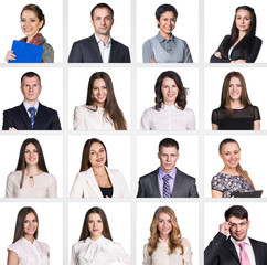Business people portrait collage.