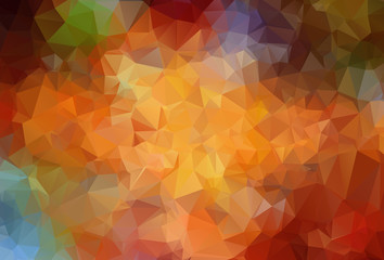 Abstract  angular colorful vector background Wall mural
