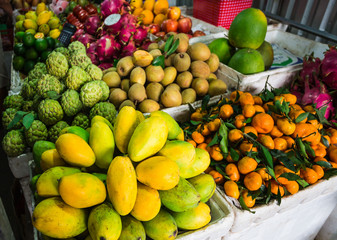 Exotic fruits in the Asian market