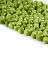 Fresh Green Peas on white background