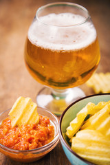chips with beer