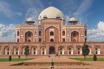 Fototapete - Humayun Tomb New Delhi, India.
