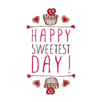 Happy Sweetest day design
