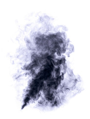 Dark blue smoke.