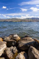Rocky Shoreline of Mountain lake