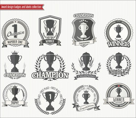 Trophy retro badges collection