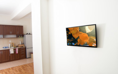 tv screen in apartment