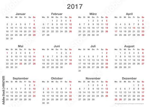 jahresplaner 2017 einfache vorlage querformat auch f r
