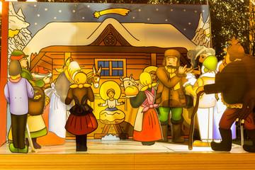 Jesus Christ's nativity crib scene