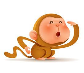 Chinese Zodiac - Monkey. Chinese New Year.