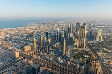 Dubai downtown morning scene