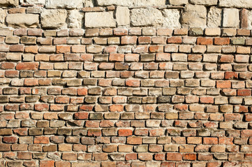Brick wall / Old brick wall texture background