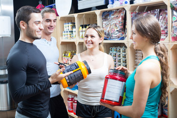 Active people with sport nutrition