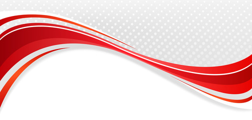 Abstract wavy background. The red lines on a gray background