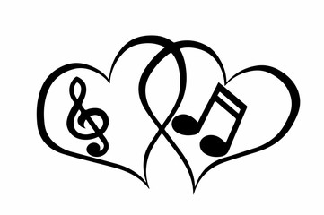 музыкальные ноты картинки